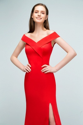 Schlichtes Abendkleid Lang Rot | Abendmoden online_9