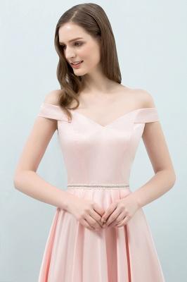 Schlichtes Abendkleid Rosa   Cocktailkleider Kurz_6