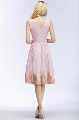 Rosa Cocktailkleider Kurz   Abendkleider mit Spitze_4