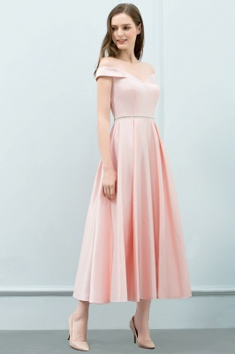 Schlichtes Abendkleid Rosa   Cocktailkleider Kurz_7