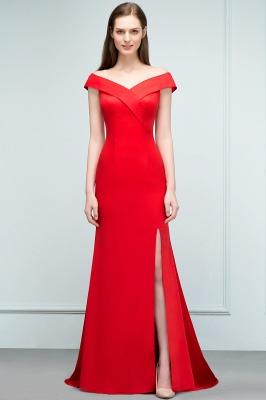 Schlichtes Abendkleid Lang Rot | Abendmoden online_6