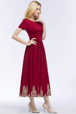Rote Abendkleider Kurz   Cocktailkleider mit Ärmel_4