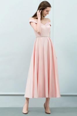 Schlichtes Abendkleid Rosa   Cocktailkleider Kurz_5