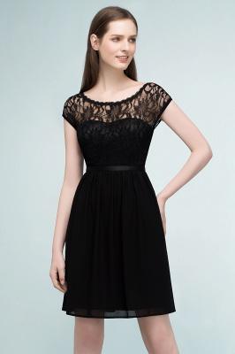 Schlichtes Abendkleid Schwarz | Abiballkleider Cocktailkleider Kurz_6