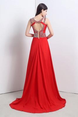Abendkleider Lang Rot | Chiffon Kleider Abendmoden_4