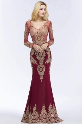 Schöne Abendkleider Mit Ärmel | Rote Abiballkleider Lang_3