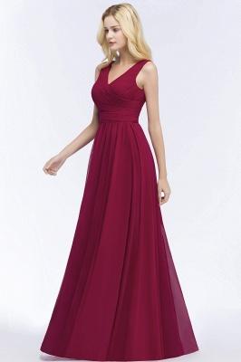 Schlichtes Abendkleid Rot   Abiballkleider Lang Günstig_7