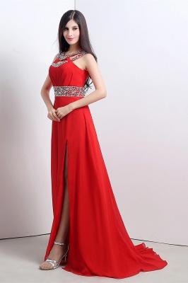 Abendkleider Lang Rot | Chiffon Kleider Abendmoden_7