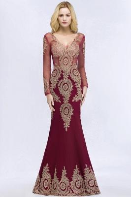 Schöne Abendkleider Mit Ärmel | Rote Abiballkleider Lang_8