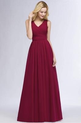 Schlichtes Abendkleid Rot   Abiballkleider Lang Günstig_8