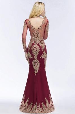 Schöne Abendkleider Mit Ärmel | Rote Abiballkleider Lang_4