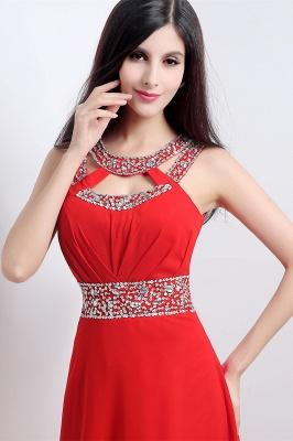 Abendkleider Lang Rot | Chiffon Kleider Abendmoden_6