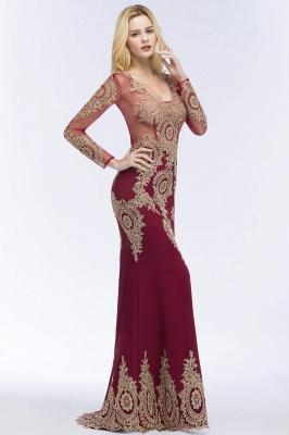 Schöne Abendkleider Mit Ärmel | Rote Abiballkleider Lang_7