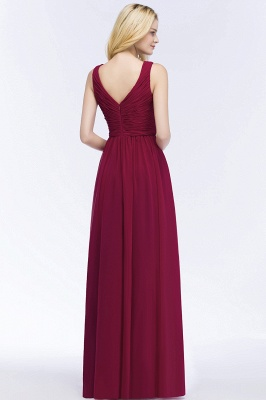 Schlichtes Abendkleid Rot   Abiballkleider Lang Günstig_3