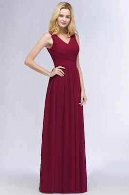 Schlichtes Abendkleid Rot   Abiballkleider Lang Günstig_4