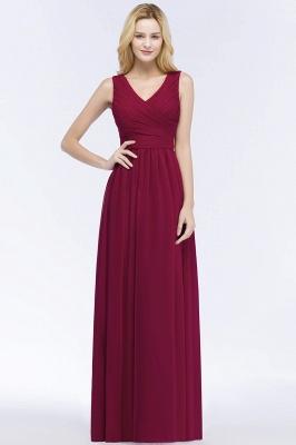 Schlichtes Abendkleid Rot   Abiballkleider Lang Günstig_1