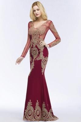 Schöne Abendkleider Mit Ärmel | Rote Abiballkleider Lang_5