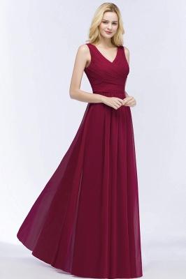 Schlichtes Abendkleid Rot   Abiballkleider Lang Günstig_6