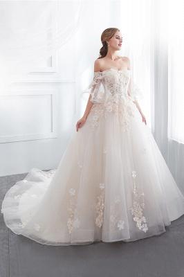 Hochzeitskleider Prinzessin Luxus   Brautkleider mit Ärmel_5