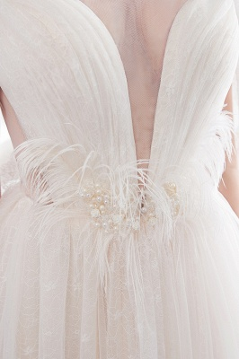 Umstands Hochzeitskleid Schlicht | Brautkleider A Linie_9