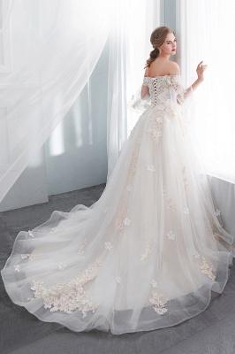 Hochzeitskleider Prinzessin Luxus   Brautkleider mit Ärmel_2