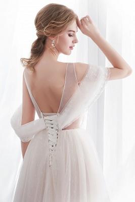 Umstands Hochzeitskleid Schlicht | Brautkleider A Linie_7