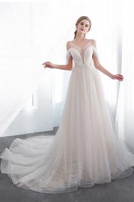 Umstands Hochzeitskleid Schlicht | Brautkleider A Linie_5