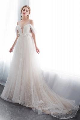 Umstands Hochzeitskleid Schlicht | Brautkleider A Linie_4