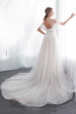 Umstands Hochzeitskleid Schlicht | Brautkleider A Linie_8