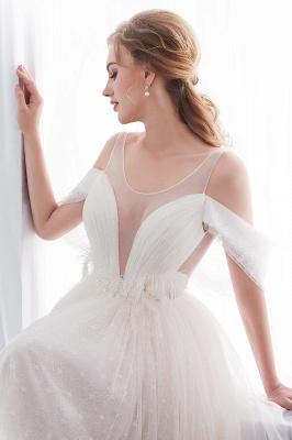 Umstands Hochzeitskleid Schlicht | Brautkleider A Linie_11