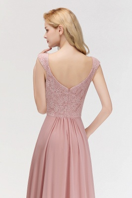 Rosa Abendkleider Mit Spitze | Abiballkleider Alterrosa_3