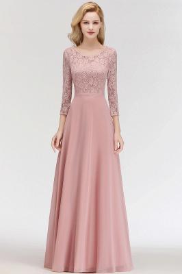 Abiballkleider mit Ärmel   Rosa Abendkleid Lang_6