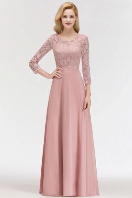Abiballkleider mit Ärmel   Rosa Abendkleid Lang_5