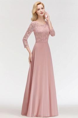 Abiballkleider mit Ärmel   Rosa Abendkleid Lang_7