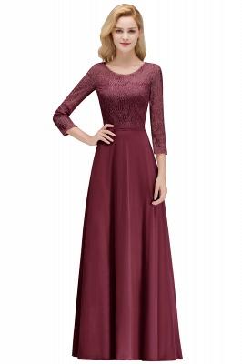 Abiballkleider mit Ärmel   Rosa Abendkleid Lang_1