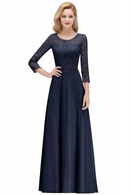 Abiballkleider mit Ärmel   Rosa Abendkleid Lang_2