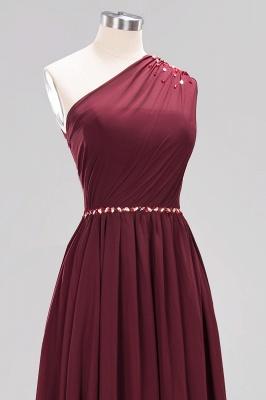 Designer Brautjungfernkleider Lang Weinrot   Chiffon Kleider Abendkleider_45