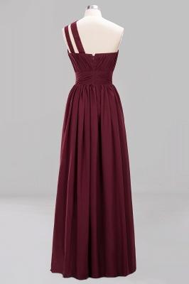 Elegante Abendkleider Lang Günstig | Chiffon Brautjungfernkleider Weinrot_8