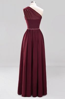 Designer Brautjungfernkleider Lang Weinrot   Chiffon Kleider Abendkleider_41