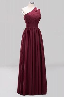 Elegante Abendkleider Lang Günstig | Chiffon Brautjungfernkleider Weinrot_9