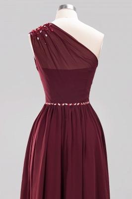 Designer Brautjungfernkleider Lang Weinrot   Chiffon Kleider Abendkleider_44