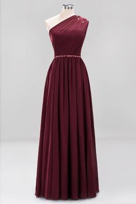 Designer Brautjungfernkleider Lang Weinrot   Chiffon Kleider Abendkleider_10