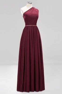 Designer Brautjungfernkleider Lang Weinrot   Chiffon Kleider Abendkleider_42