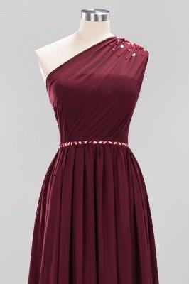 Designer Brautjungfernkleider Lang Weinrot   Chiffon Kleider Abendkleider_43