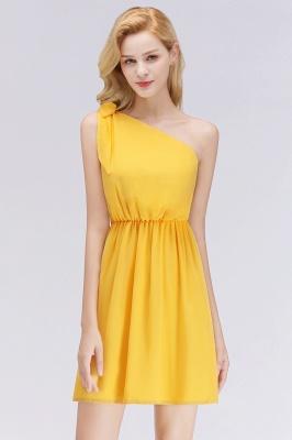 Kurkuma Gelb Brautjungfernkleider Kurz | Günstige Kleider für Brautjungfern