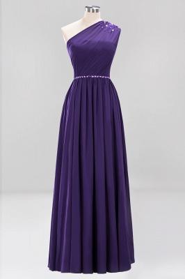 Designer Brautjungfernkleider Lang Weinrot   Chiffon Kleider Abendkleider_18