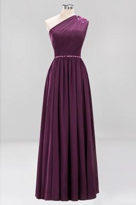 Designer Brautjungfernkleider Lang Weinrot   Chiffon Kleider Abendkleider_19