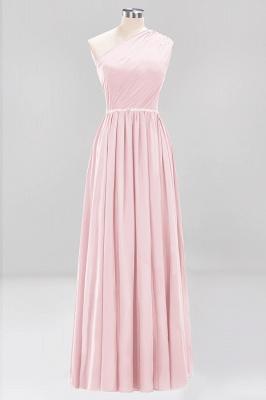 Designer Brautjungfernkleider Lang Weinrot   Chiffon Kleider Abendkleider_3