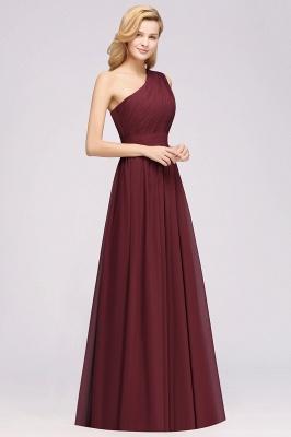 Elegante Abendkleider Lang Günstig | Chiffon Brautjungfernkleider Weinrot_3