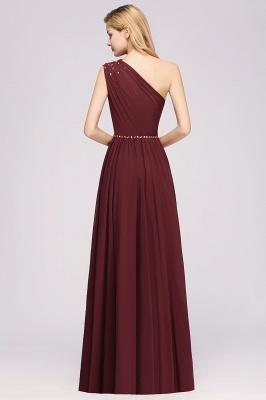 Designer Brautjungfernkleider Lang Weinrot   Chiffon Kleider Abendkleider_36